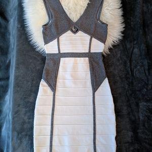WOW COUTURE Bandage Bodycon Dress - White - Small
